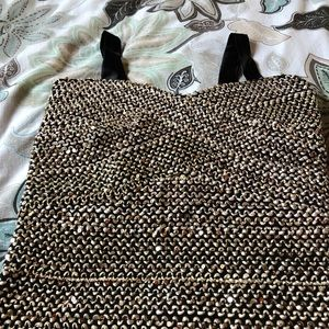 Elisa B Dresses - Elisa B [Nordstrom] Gold Sequenced Dress Sz 14